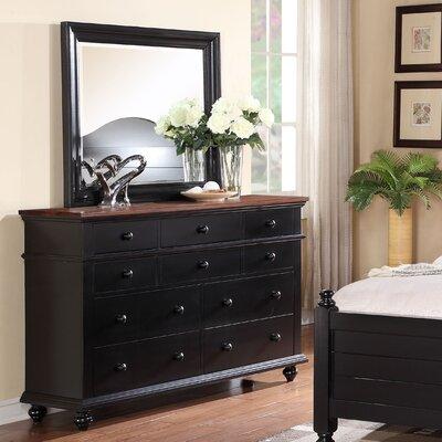 Courtdale 10 Drawer Dresser Finish: Ebony