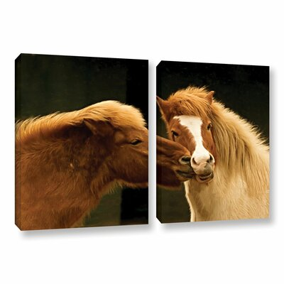 Hugz For 2014 2 Piece Photographic Print on Wrapped Canvas Set
