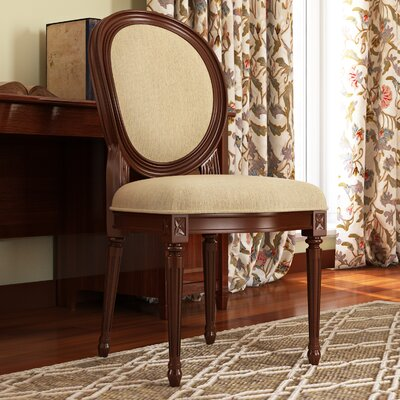 Pinckney Side Chair Upholstery: Plantation Cherry, Upholstery: Beige