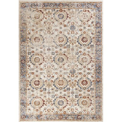 Lappin Transitional Ivory Area Rug Rug Size: 53 x 77