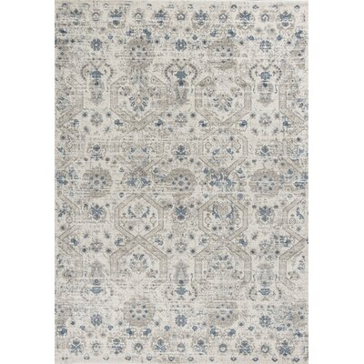 Lappin Ivory Area Rug Rug Size: Rectangle 53 x 77