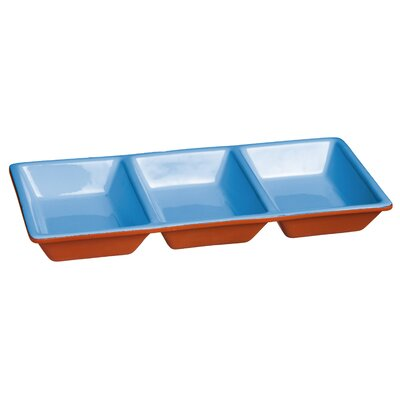 Lavina Dipped Terracotta 3 Section Divided Serving Dish