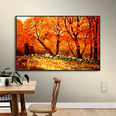 Autumn Blaze Framed Painting Print