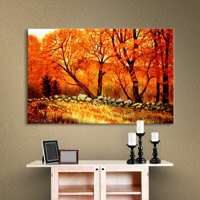 Autumn Blaze Painting Print on Wrapped Canvas Size: 32