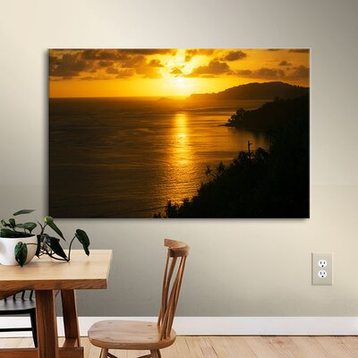 'Pacific Sunrise Over Kilauea Lighthouse' Photographic Print on Wrapped Canvas BBMT2607 40023214