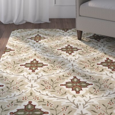 Lyndora Handmade Wool Rectangle Area Rug Rug Size: Rectangle 3 x 5