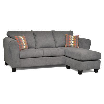 Fredericktown Reversible Chaise Sectional Upholstery: Capstone Steel/ Zeppelin Sorbet