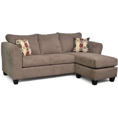 Dominey Sectional Upholstery: Cleeve Mocha/Eclipse Cabernet