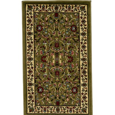 Forthill Green/Red Area Rug