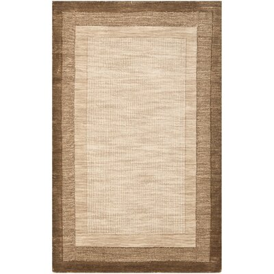 Leister Hand-Loomed Beige/Brown Area Rug Rug Size: Runner 23 x 8