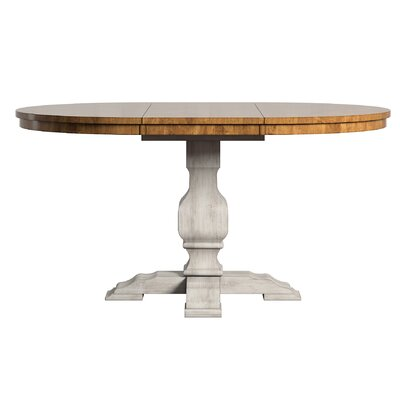 Fortville Extendable Dining Table Base Color: Antique White