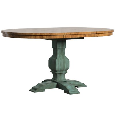 Fortville Extendable Dining Table Base Finish: Dark Sea Green