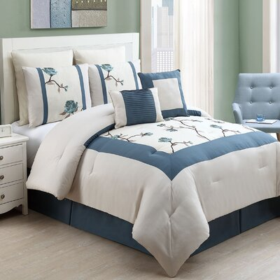 Leopold 8 Piece Comforter Set Size: King