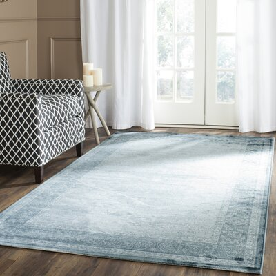 Colden Light Blue/Dark Blue Area Rug Rug Size: Runner 22 x 8