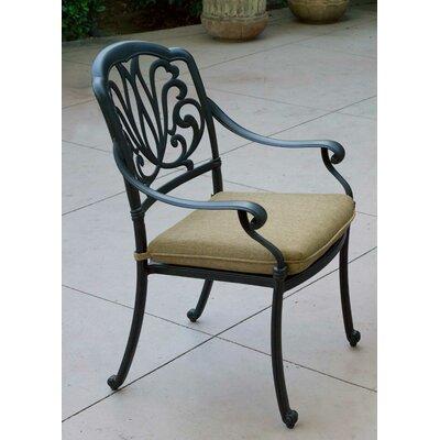 Lebanon Dining Chair Seat Cushion Fabric: Sesame