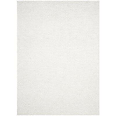 Detweiler Hand-Tufted White Area Rug Rug Size: 5 x 8