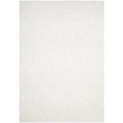 Detweiler Hand-Tufted White Area Rug Rug Size: 3 x 5