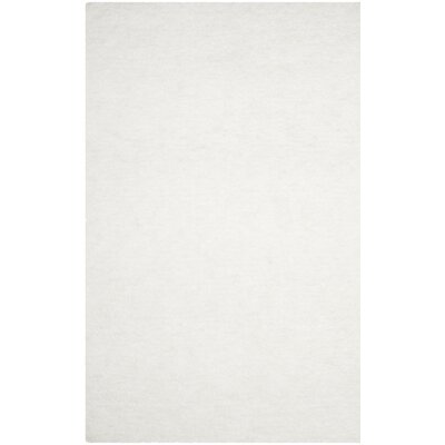 Detweiler Hand-Tufted White Area Rug Rug Size: 6 x 9