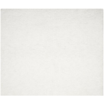 Bacall Hand-Tufted White Area Rug Rug Size: Square 6