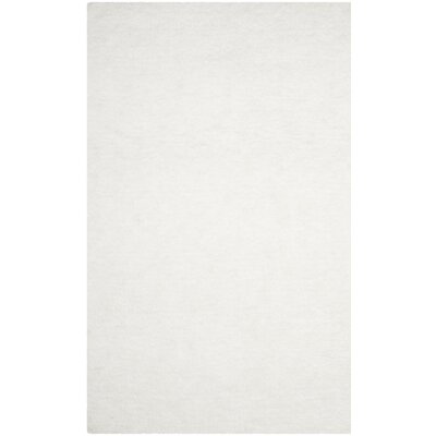 Bacall Hand-Tufted White Area Rug Rug Size: Runner 23 x 6
