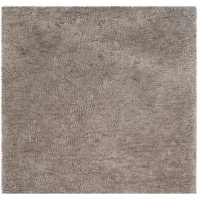 Detweiler Hand-Tufted Gray Area Rug Rug Size: Round 6