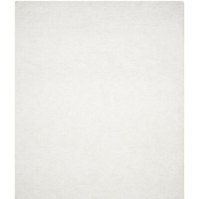 Bacall Hand-Tufted White Area Rug Rug Size: Runner 26 x 4