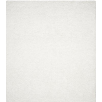 Detweiler Hand-Tufted White Area Rug Rug Size: Rectangle 5 x 8