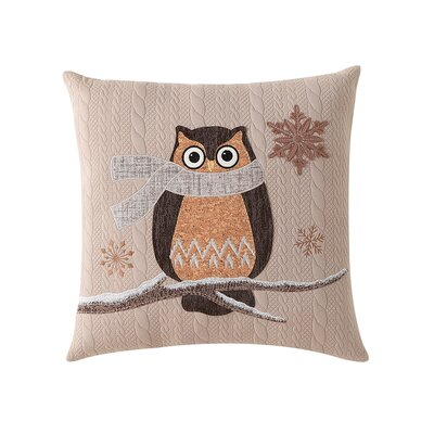Lovejoy Snowy Owl Embroidered Throw Pillow