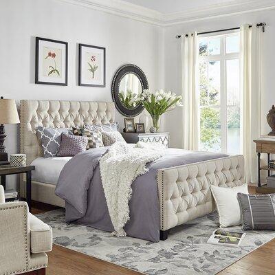 Allison King Upholstered Panel Bed