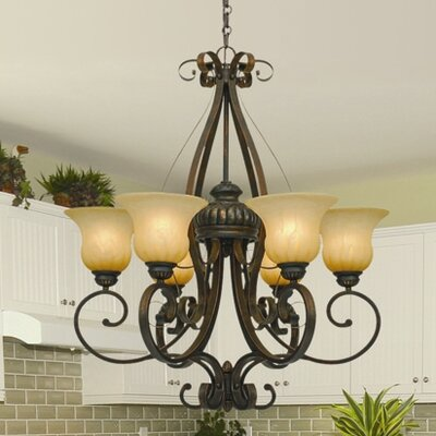 Gregory 6 Light Shaded Chandelier