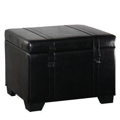 Parnassus Leather Storage Ottoman