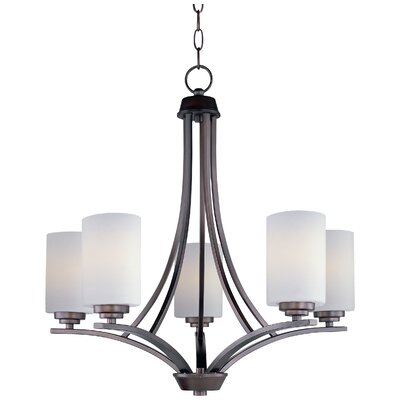 Bainsby 5-Light Shaded Chandelier Finish: Oil Rubbed Bronze