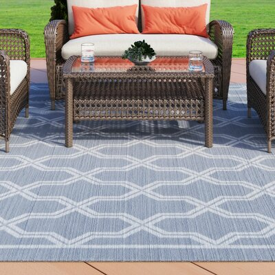 Arnot Gray/Cream Trellis Indoor/Outdoor Area Rug Rug Size: Rectangle 311 x 55