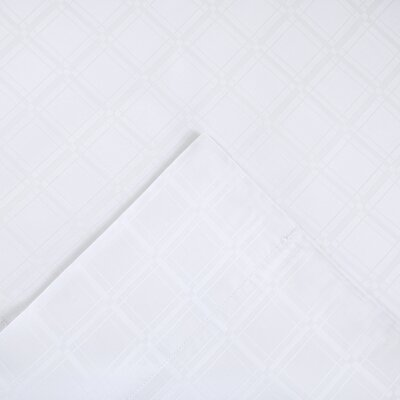 3 Piece Loraine Sheet Set Color: White, Size: Queen