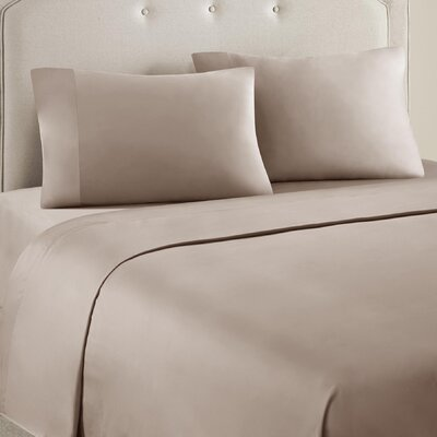 4 Piece Ashbury Cotton Blend Sheet Set Size: Queen, Color: Taupe