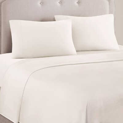 4 Piece Ashbury Cotton Blend Sheet Set Size: Full, Color: Ivory