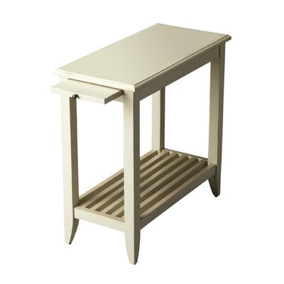 Adalaide End Table With Storage  Color: Distressed Cottage White