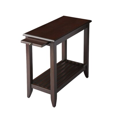 Adalaide End Table With Storage  Color: Merlot