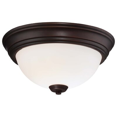 Parish 2-Light Vintage Bronze Flush Mount