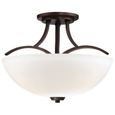 Parish 3-Light Semi Flush Mount