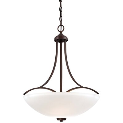Parish 3-Light Vintage Bronze Bowl Pendant