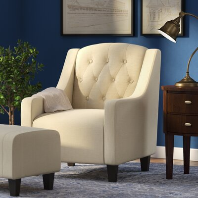 Simpson Upholstered Arm Chair and Ottoman