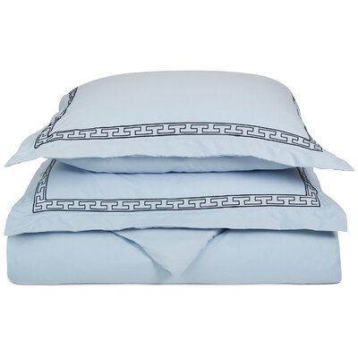 Sheatown Reversible Duvet Set Size: Twin / Twin XL, Color: Light Blue/Navy Blue