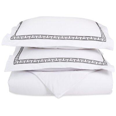 Sheatown Reversible Duvet Set Color: White/Black, Size: King / California King