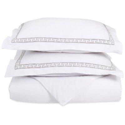 Sheatown Reversible Duvet Set Color: White/Gray, Size: King / California King