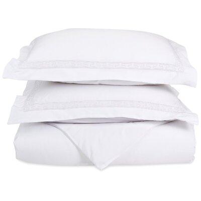 Sheatown Reversible Duvet Set Color: White, Size: King / California King
