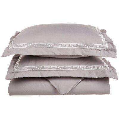 Sheatown Reversible Duvet Set Color: Gray/White, Size: King / California King