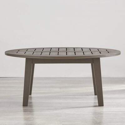 Brook Hollow Round Coffee Table Finish: Gray