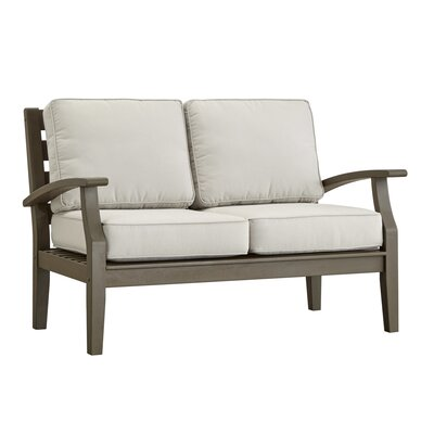 Valencia Patio Loveseat Fabric: No Cushion, Finish: Brown