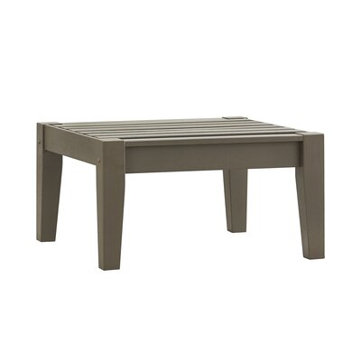 Brook Hollow Ottoman Fabric: No Cushion, Finish: Gray